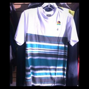 BNWT!  3 x VOLCOM Striped Short-Sleeve Tee Shirt